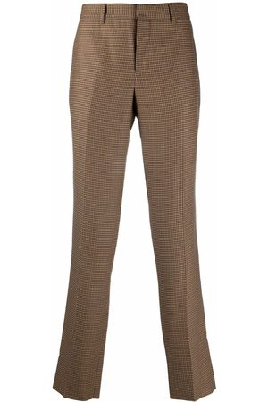 Moschino Houndstooth-pattern tailored trousers