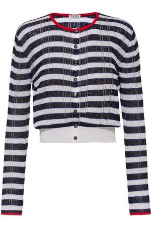Miu Miu Open-knit horizontal stripe cardigan