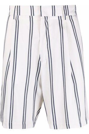 Costumein Stripe-pattern tailored shorts