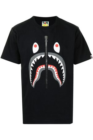 A Bathing Ape Men Short Sleeve - Shark-print short-sleeved T-shirt