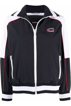 Coach Embroidered-logo sports jacket