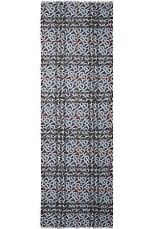 Burberry Monogram-print wool-silk scarf