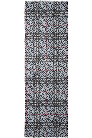Burberry Scarves - Monogram-print wool-silk scarf
