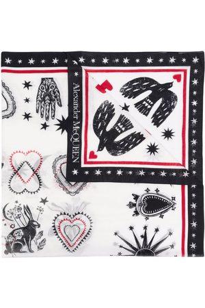 Alexander McQueen Women Scarves - Motif-print scarf