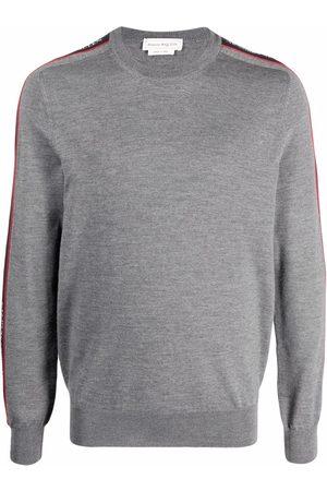 Alexander McQueen Logo-tape jumper - Grey