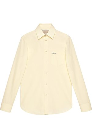 Gucci Logo-embroidered cotton shirt