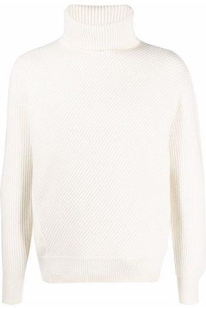 Alexander McQueen Roll neck knitted jumper - Neutrals