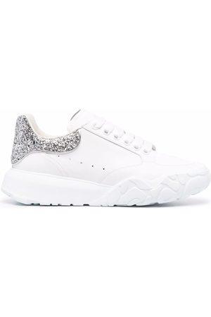Alexander McQueen Court glitter-counter sneakers