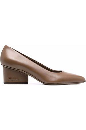 Salvatore Ferragamo Pointed toe block heel pumps