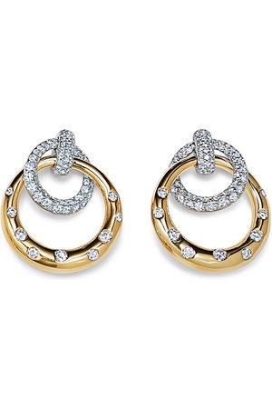 Kwiat 18kt diamond Cobblestone interlocking earrings