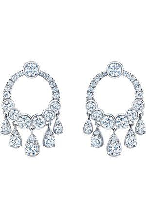 Kwiat 18kt white gold diamond Eclipse dangle earrings