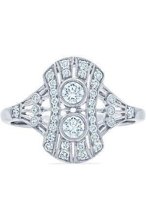 Kwiat 18kt white gold diamond Splendor petite filigree ring