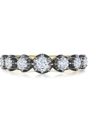Fred Leighton 18kt 7 diamond stone collect ring