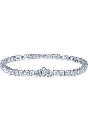 Kwiat 18kt white gold diamond Tiara line bracelet