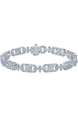 Kwiat 18kt white gold diamond Splendor rectangular link bracelet