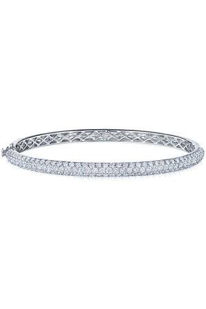 Kwiat Women Bracelets - 18kt white gold diamond Moonlight three-row medium bangle