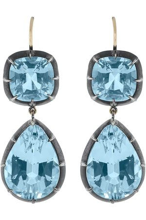 Fred Leighton 18kt gold double drop topaz earrings