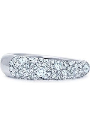 Kwiat 18kt white gold Cobblestone pavé diamond band ring