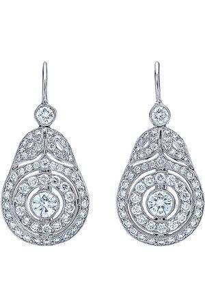 Kwiat 18kt white gold diamond Splendor Concentric drop earrings