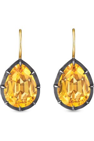 Fred Leighton 18kt pear shape citrine collect drop earrings