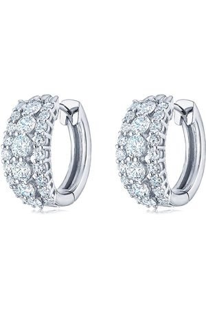 Kwiat 18kt white gold Lyric diamond huggie earrings
