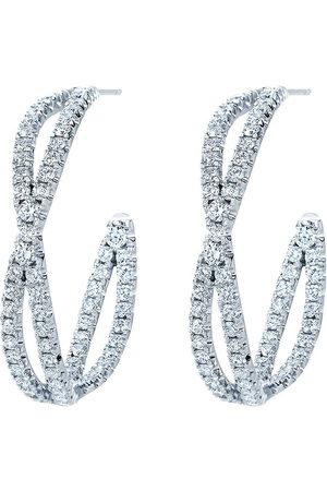Kwiat Women Earrings - 18kt white gold diamond Fidelity petite hoop earrings