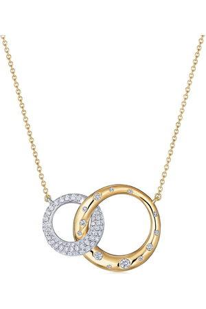 Kwiat 18kt diamond Cobblestone interlocking pendant