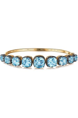 Fred Leighton 18kt yellow cushion topaz collect bangle