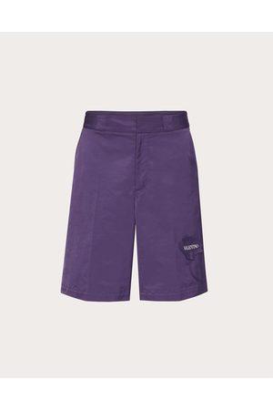 VALENTINO Men's Garden Nylon Bermuda Shorts Man Polyester 100% 44