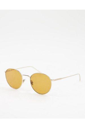 Lacoste Round lens sunglasses in tone