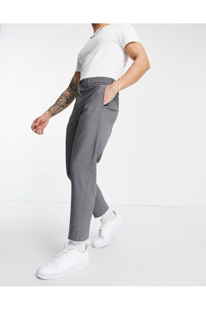 SELECTED Slim tapered suit pants in -Grey