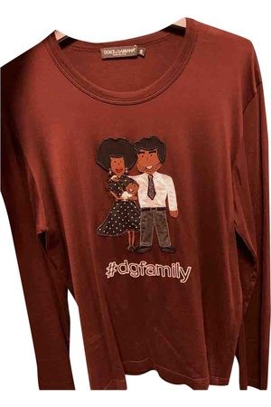 Dolce & Gabbana Men T-shirts - Burgundy Cotton T-shirt