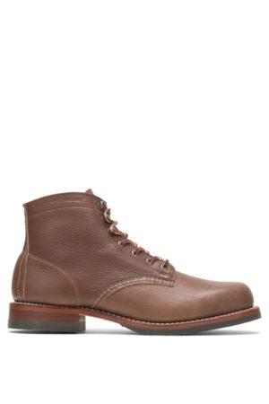 Wolverine Men Boots - Men's Evans 1000 Mile Boot - Olive Tanned , Size 7