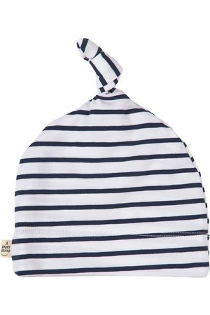 A Happy Brand Striped Baby Beanie Navy - Unisex - 44/46 cm - Navy - Beanies
