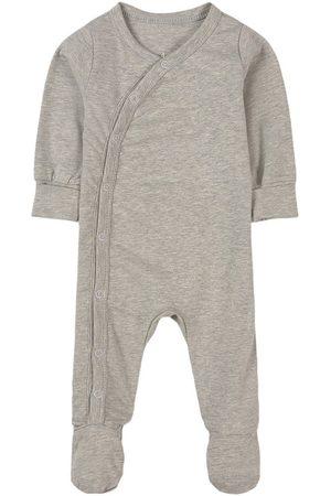 A Happy Brand Melange Footed Baby Body - Unisex - 50/56 cm - Grey - Pyjamas