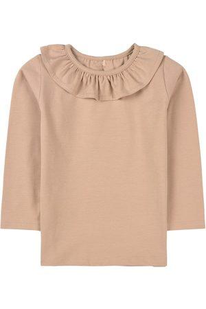 A Happy Brand Sand Ruffle Detail T-Shirt - Unisex - 86/92 cm - - Long sleeved t-shirts