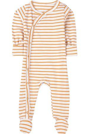 A Happy Brand Striped Footed Baby Body White - Unisex - 50/56 cm - - Pyjamas