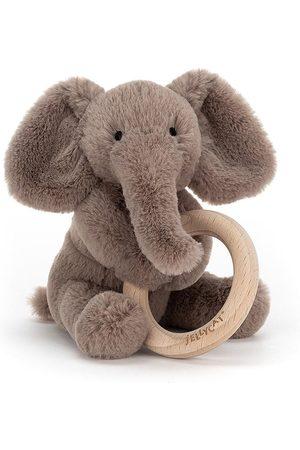 Jellycat Shooshu Elephant Wooden Ring Toy - Unisex - 0 - 12 months - Grey - Soft animals