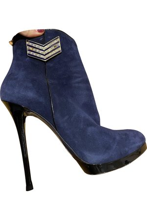 GIANMARCO LORENZI Suede Ankle Boots