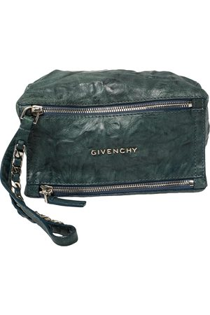 Givenchy Teal Distressed Leather Pandora Clutch