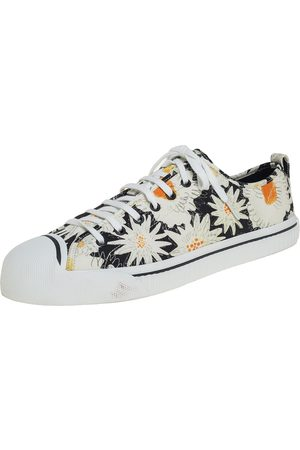 Burberry Floral Print Canvas Kingly Low Top Sneakers Size 46