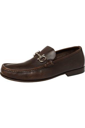Salvatore Ferragamo Leather Gancini Bit Loafers Size 43.5
