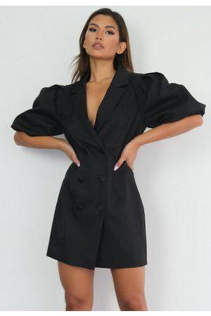 Missguided Women Party Dresses - Puff Sleeve Blazer Mini Dress