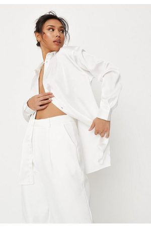 Missguided Satin Extreme Oversized Shirt