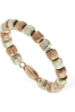 Dodo 9kt Rose Gold & Silver Granelli Ring