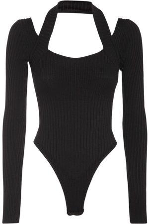ANDREA ADAMO Layered Wool Blend L/s Bodysuit