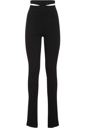 ANDREA ADAMO Women Wide Leg Pants - Viscose Blend Flared Pants