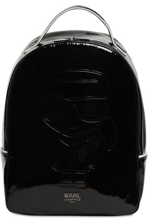 Karl Lagerfeld Choupette Patent Faux Leather Backpack