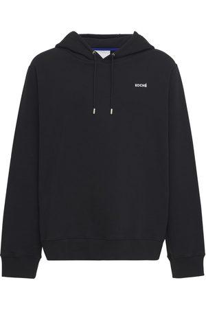 KOCHÉ Men Hoodies - Logo Print Cotton Jersey Hoodie