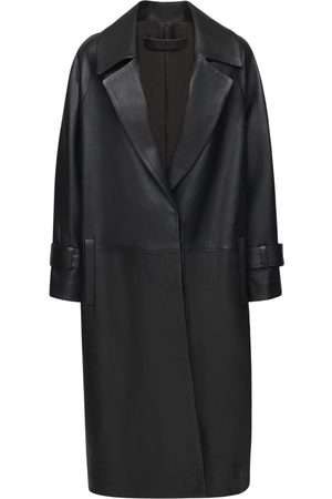 THE AL Women Trench Coats - Paloma Leather Trench Coat